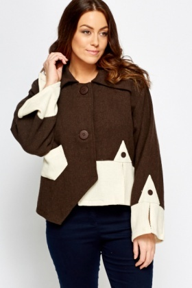 Wide Sleeve Asymmetric Coat
