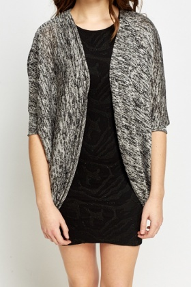 Batwing Speckled Cardigan