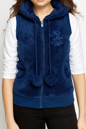 Bear Ears Fluffy Body Warmer