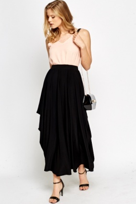 Asymmetric Winged Skirt