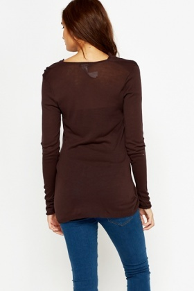 Cowl Neck Chocolate Top