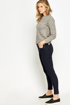 Navy Skinny Fit Jeans