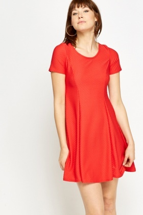 Textured Swing Dress