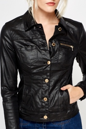 Black Shimmer Short Jacket