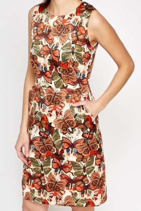 Butterfly High Waist Dress