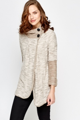 Button Neck Cardigan