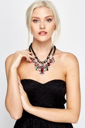 Contrast Art Deco Necklace