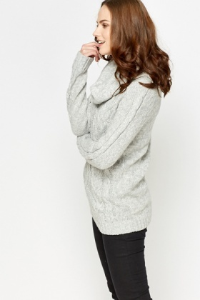Large Roll Neck Jumper