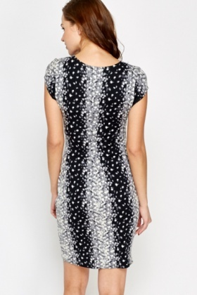Speckled Ruched Bodycon Dress