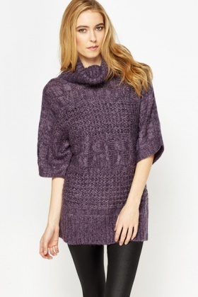 Roll Neck Longline Jumper