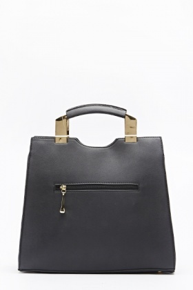 Black Gold Detail Box Bag