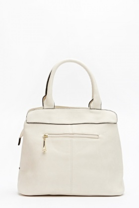 Front Zip Cream Bag