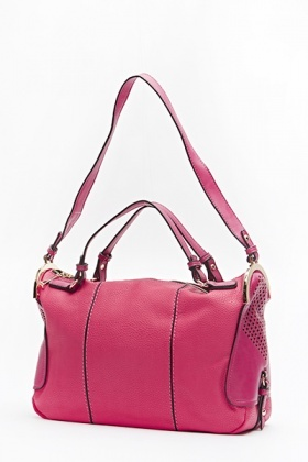 Rose Faux Leather Bowler Bag - Just £5 32c235b28cfe7