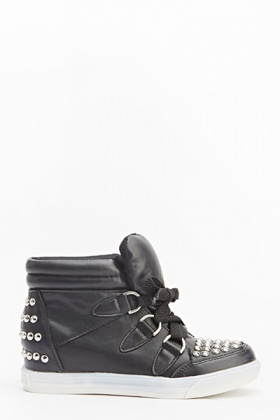 Studded High Ankle Trainers