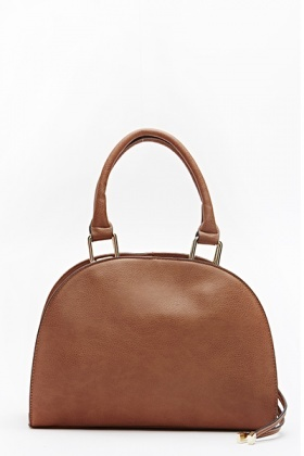 Textured Faux Leather Handbag