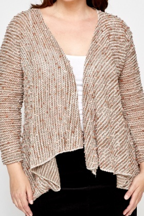 Bobble Knit Open Cardigan