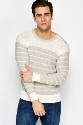 Light Knit Striped Jumper