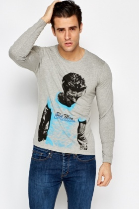 Men Collection Printed Long Sleeve Top