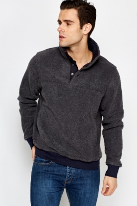 Soft Button Neck Jumper