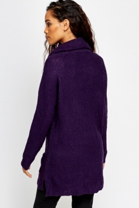 Cowl Neck Long Jumper