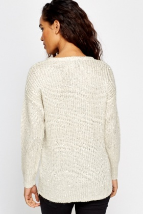 Loose Sequin Jumper