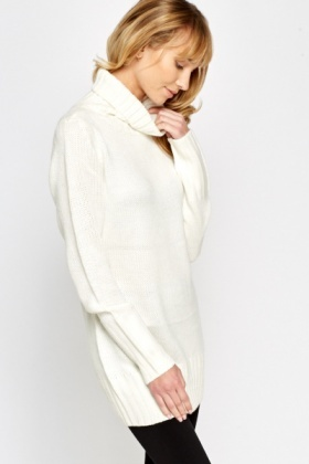 Long Roll Neck Jumper