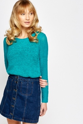 Loose Dip Hem Knit Top
