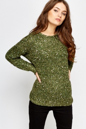 Sequin Fine Knit Jumper