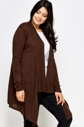 Chocolate Open Cardigan