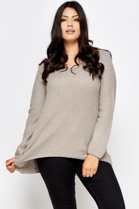 Loose Knit Round Neck Jumper