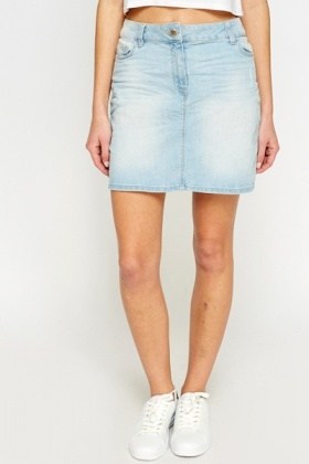 Mini Light Blue Denim Skirt - Just £5