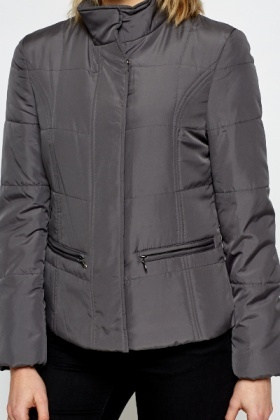 Padded Grey Winter Jacket
