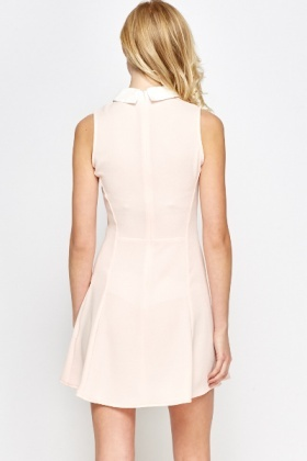 Light Pink Collared Swing Dress