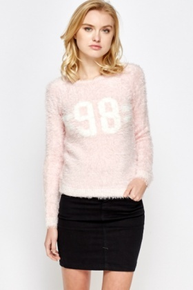 Light Pink Fluffy Jumper