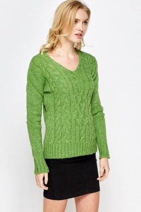 Metallic Ribbed Trim Jumper