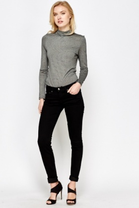 Skinny Low Waist Black Jeans