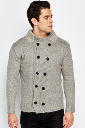 Thick Double Button Cardigan