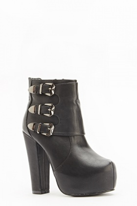 High Block Heel Boots