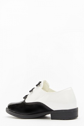 Mono PU Bow Front Shoes