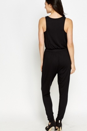 Black Low Neck Jumpsuit