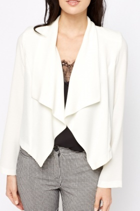 Cream Waterfall Blazer