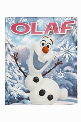 Fleece Olaf Blanket