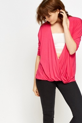Plunge Wrap Blouse