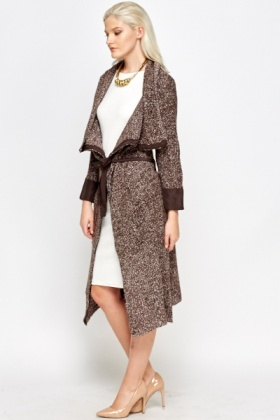 Speckled Waterfall Long Cardigan
