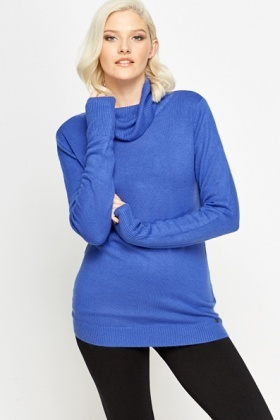Violet Cowl Neck Jumper