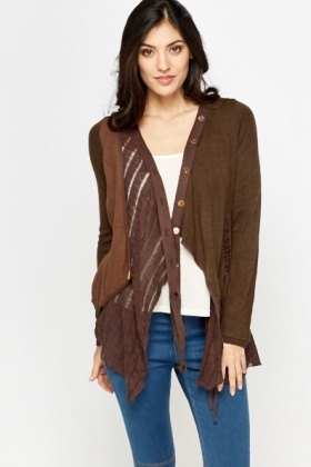 Button Trim Cardigan