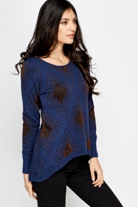 Diamond Metallic Pattern Jumper