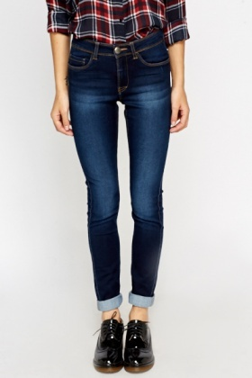 Denim Blue Slim Leg Jeans