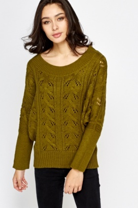 Loose Knit Batwing Sleeve Jumper