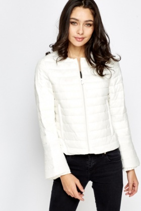 Round Neck Quilted Jacket